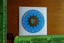 Alter Aufkleber Polizei NRW Partner für SICHERHEIT