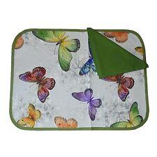 SET COLAZIONE tovaglia cotone + 1 tovagliolo farfalle verde 2 pezzi nel set