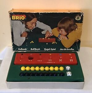 Vintage Brio BALL BANK game
