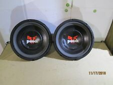 """Two Rockford Fosgate Punch 12"""" Subwoofers Max Power."""