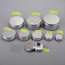 10-30Pcs/Set Cosmetic Empty Jar Pot Cream Lip Balm Bottle Box Container Tin Case