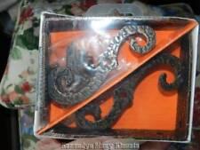 "Vintage McKinney Forged Iron Ornamental Brackets 4""x 3"" Olde Copper Finish NIP"