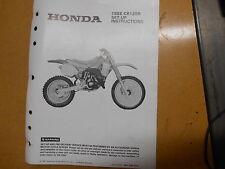 1988 Honda CR125R CR125 R Factory Set Up Instruction Manual