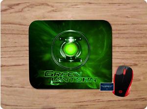 GREEN LANTERN LOGO CUSTOM MOUSE PAD DESK MAT HOME SCHOOL OFFICE GIFT PC GAMING
