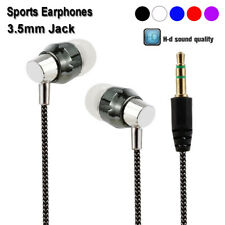 Mobile phone Braided In-Ear Earbuds Stereo Earphone Sports Headphones Headset