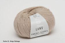 500g lang Yarns Thema NUOVA Merino Fine 22 beige Hellbraun wolle Stricken 1