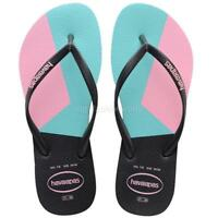 New Women Havaianas Slim Color Block Sandals Flip Flop Shoes Flat Pink 5 6 7 8