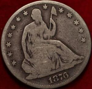 1876 Philadelphia Mint Silver Seated Half Dollar