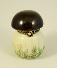 NEW  FRENCH LIMOGES TRINKET BOX AMAZING DETAILED LARGE MUSHROOM WITH SNAIL CLASP