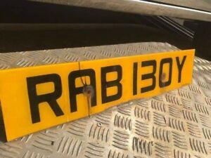 Private registration RAB 130Y (RAB BOY)