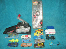 Hot Wheels Mixed Lot of 15 Diecast Cars -Watch-Hyper Wheels Motorcycle Launcher