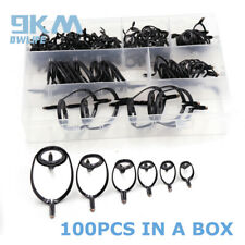 Black Heavy Duty 100Pcs 8#-25# Boat Fishing Guides Xrntsg TiO & Stainless Steel