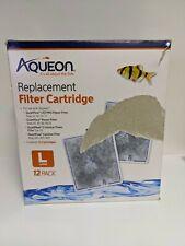 Aqueon Large Replacement Filter Cartridges-QTY 9 QuietFlow 20 30 50 55, Open box