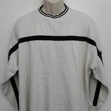 Dickies Mens Sweatshirt XL White Black Striped Crewneck L/S Cotton