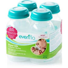 4 Pack 5 oz Evenflo Breast Milk Collection BPA Free Storage Bottle - 937510