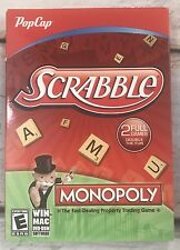 PopCap Scrabble and Monopoly Games WINDOWS MAC DVD-ROM Software 2 Full Games-NEW
