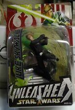 Star Wars UNLEASHED Figure - LUKE SKYWALKER - ROTJ Black Outfit - 2004 Hasbro