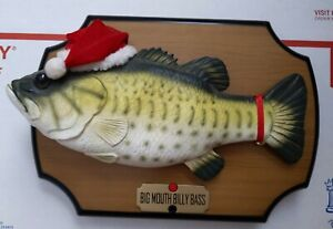 Vintage 1999 Big Mouth Billy Bass Christmas Singing Fish Gemmy Night Before Xmas