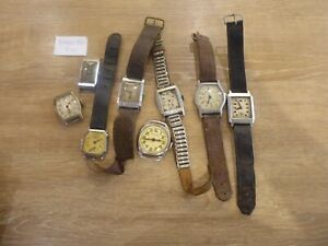 JOB LOT OF VINTAGE  WRISTWATCHES SPARES OR REPAIRS