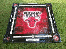 Chicago Bulls Flaming Domino Table by Domino Tables by Art