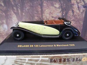 1/43  Ixo museum 1939 Delage D8 120 Letourneur MUS010