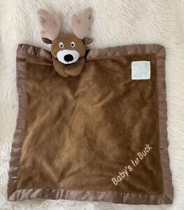 PICKLES Deer Baby Security Blanket BROWN LOVEY Reindeer Baby's 1st Buck