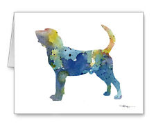 BLUE BLOODHOUND Note Cards With Envelopes