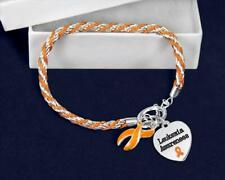 Leukemia Orange Ribbon Rope Bracelet