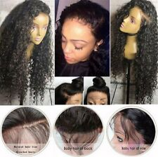 Long Full Wavy Front Lace Wig Afro Curly Natural Hair Wigs Women Black Synthetic