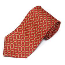 BROOKS BROTHERS Red Gold Lattice Woven Pattern Silk Tie