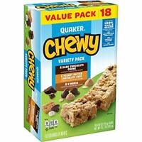 The Tasteful Quaker Chewy Granola Bars, Variety Pack, 18 Count