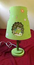 Circo Love N Nature Table Lamp Double-Cut Shade Owl Nursery Kids Room Lime Green
