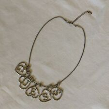 GUESS Heart Charm Letters Necklace