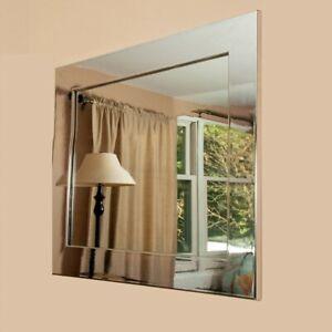 """BrandtWorks Chrome Square Wall Mirror, 32"""" x 32"""" - BM015SQ"""