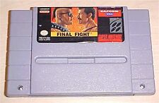 Final Fight 1 one Super Nintendo SNES Vintage classic original game cartridge