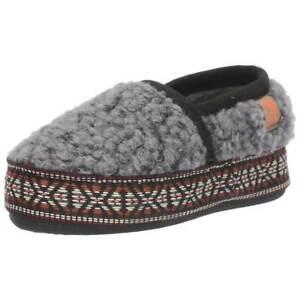 Acorn Kids' Slippers L'il Woven Trim Moccasins, Stormy Grey, K5/6 A19009STG5-6