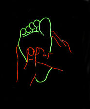 "Foot Massage Neon Sign 20""x16"" Light Lamp Beer Bar Display Artwork Windows"