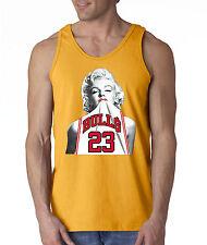 New Way 193 - Men's Tank-Top Marilyn Monroe BULLS 23 Jersey Jordan