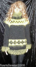 handgestrickt Pullover  Langhaar Mohair 40 - 44  hand knitted sweater Unissex