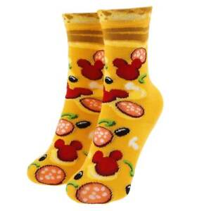 Disney Store Mickey Mouse Pizza Socks Disney Parks Food Icon Kids Size M L