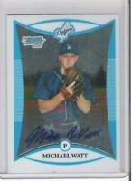 2008 BOWMAN CHROME MICHAEL WATT ROOKIE AUTOGRAPH