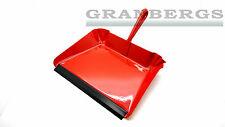 Iris Hantverk Dust Pan Metal Red Short Handle 2339-01 Cleaning Swedish Made NEW