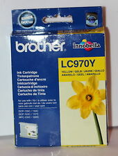 BROTHER GENUINE LC-970Y YELLOW INK CARTRIDGE- DCP-135C MFC-260C - APR 2012