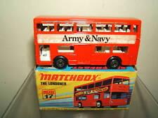 "MATCHBOX SUPERFAST  MODEL No.17F  "" ARMY & NAVY "" DAIMLER LONDON BUS     VN MIB"
