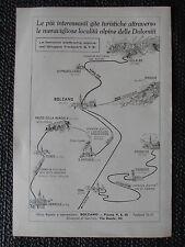 1933 FERROVIE ELETTRICHE ALPINE VAL DI NON DOLOMITI PUBBLICITA FUNICOLARE BOLZAN