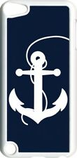 Large Navy Blue and White Faith Anchor on iPod Touch 5th Gen 5G White Tpu Case