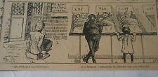 Humour On Loge à pied et à Cheval A la Morgue Image Print 1906