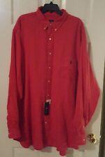 NWT New Men's Polo Ralph Lauren Red Button Down Shirt 3XLT Tall