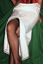 OMAS ATTRAKTIVER 50/60er Perlon/Nylon HALB-Unterkleid-Unterrock size M *NEU (408