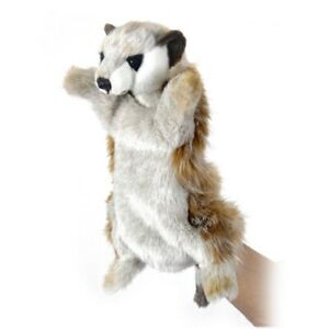 African Meerkat Puppet Hansa Realistic Animal Plush Toy 28cm **FREE DELIVERY**
